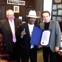 With Joe Frazier and Oscar Goodman