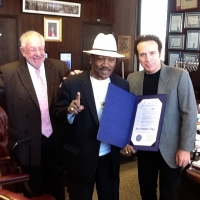 With Joe Frazier and Oscar Goodman